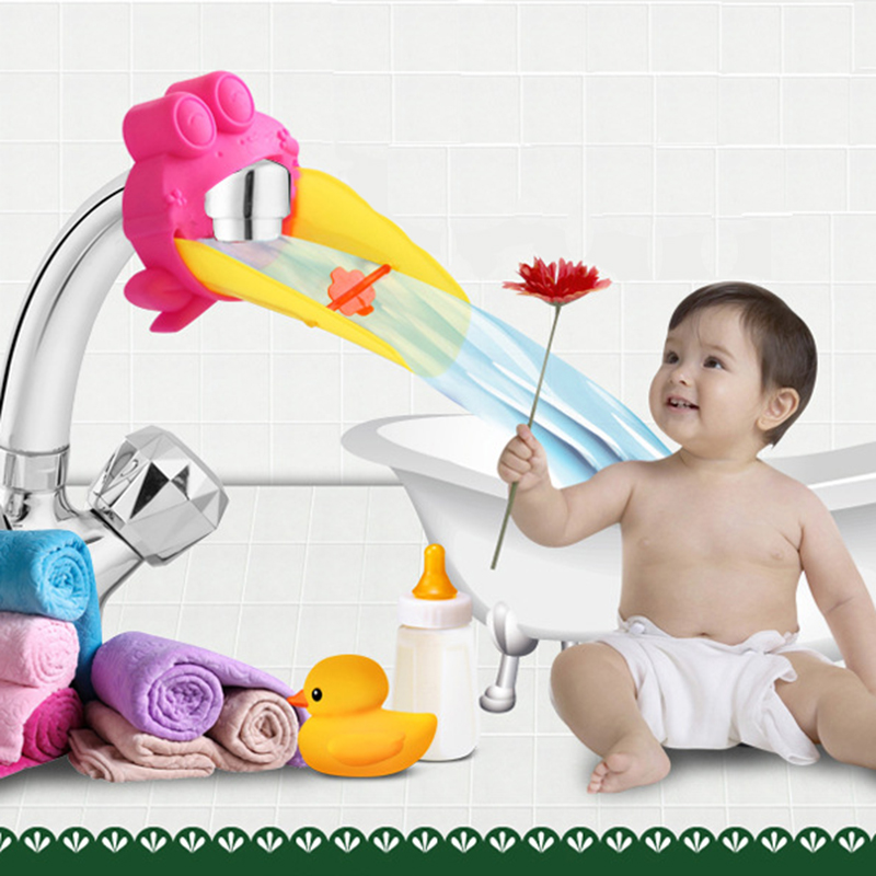High Quality & Practical Baby Cute Faucet Expander Child Hand Washing Convenience Baby Bathroom Bath Faucet Chute Expander ...