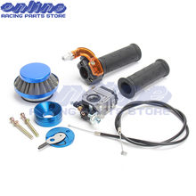 Carburetor Carb Air Filter Stack Twist Throttle Accelerator Grip & Cable For 47cc 49cc Mini Moto ATV Pocket Bike Motorcycle цена в Москве и Питере