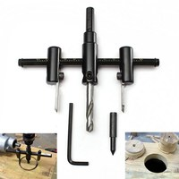 1 PC Adjustable New Metal Wood Circle Hole Saw Drill Bit Cutter Kit DIY Tool 30mm
