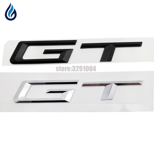 Gt Rear Boot Trunk Lid Letters Badge Emblem Logo For Bmw   Series Amg Ford Mustang Buick Excelle Mitsubishi Maserati Peugeot