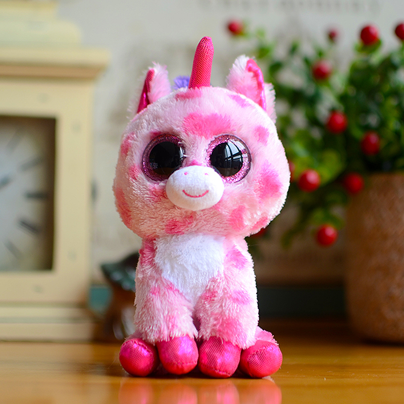 Ty Beanie Boos Kids Plush Toys Big Eyes Sugar Pie Pink Unicorn Lovely Children Gifts Kawaii Stuffed Animals Dolls Cute PresentTy Beanie Boos Kids Plush Toys Big Eyes Sugar Pie Pink Unicorn Lovely Children Gifts Kawaii Stuffed Animals Dolls Cute Present