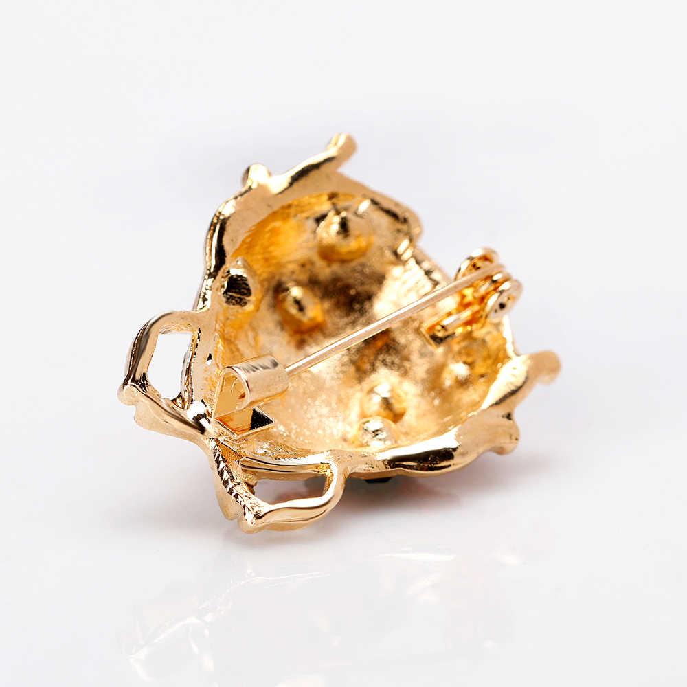 Rinhoo Animali Selvatici Coccinella Spille per Le Donne di Gioielli in Acciaio Inox Accessori per La Casa Decorazione Insetto Spilla Pins
