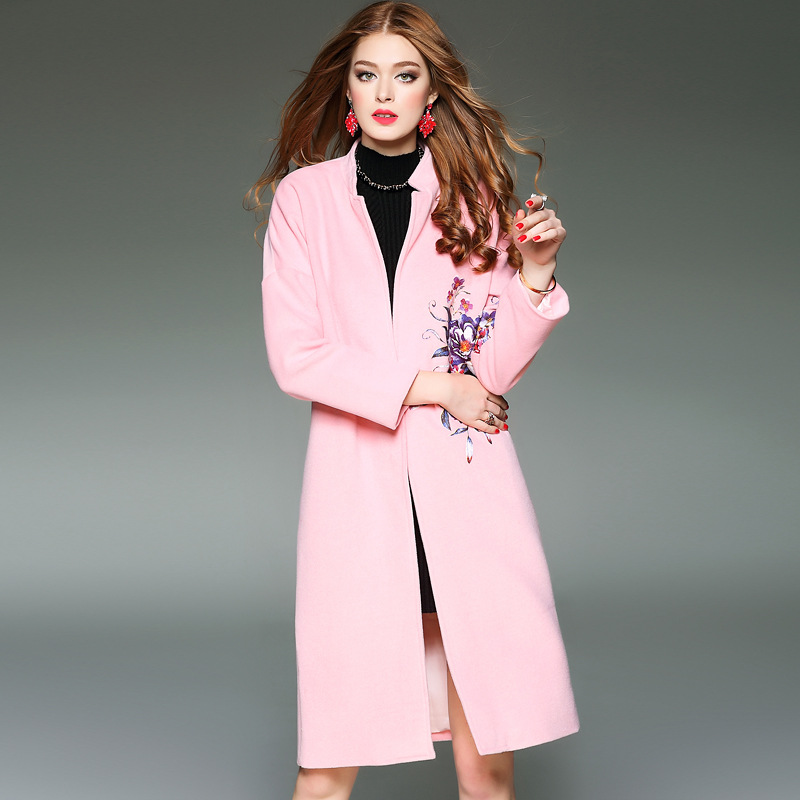 Popular Pink Wool Coat Women-Buy Cheap Pink Wool Coat Women lots
