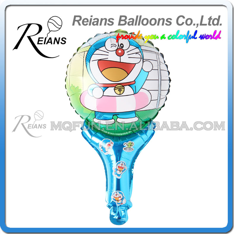 50pcs 51cm children kids cartoon Anime Doraemon handhold stick Party birthday aluminum foil air balloon Celebration Event toy