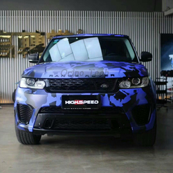 Blauw Zwart Camouflage Vinyl Car Wrap Film Camo Auto Sticker Truck Boot Wrap Luchtbel Gratis ORINO Voertuig Motorfiets Wikkelen