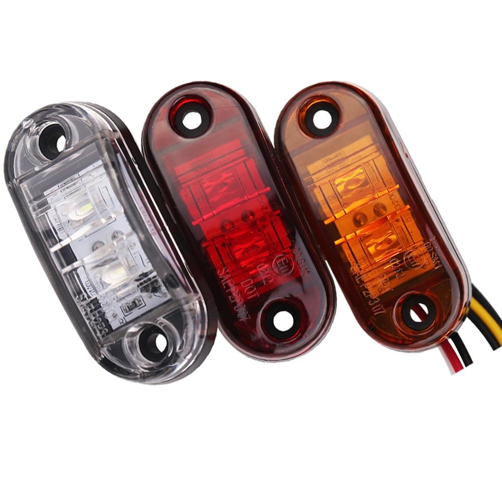 1pc 24v 12v amber led side marker lights for trucks side clearance marker light clearance lamp 12V Red White for Trailer