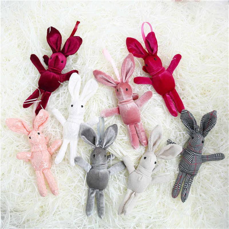 Desejando bonito Chaveiro Coelho Chaveiro Coelho Animal Dos Desenhos Animados Boneca de Brinquedo de Pelúcia Para Crianças Brinquedo Do Bebê Presente de Natal Aniversário