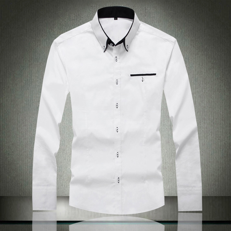 Mens Formal White Shirts Shirts Rock
