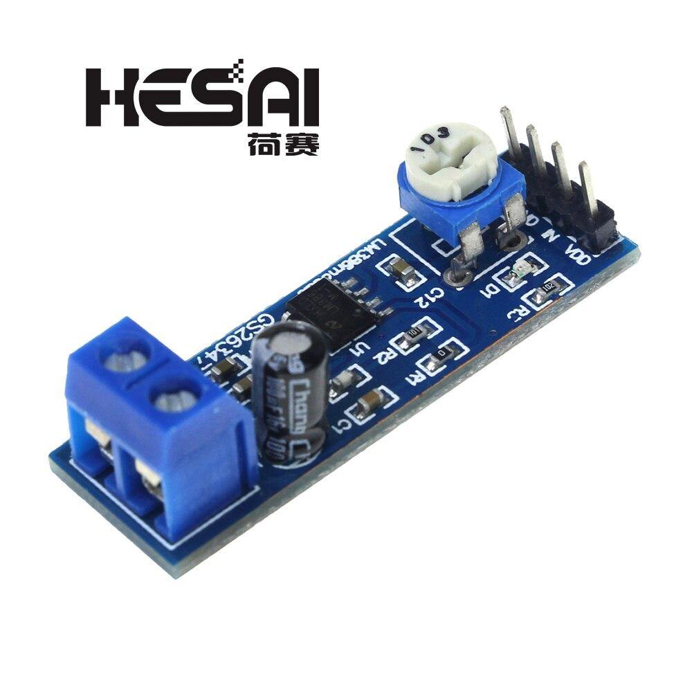 LM386 Audio Amplifier Module 200 Times 5V-12V Input 10K Adjustable Resistance