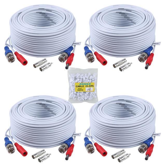 ANNKE 4 шт 30 м 100ft CCTV кабель BNC + DC штекер видео кабель питания для провода AHD камеры и DVR системы видеонаблюдения Аксессуары