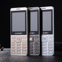 Ultra Light Slim Big Russian Key Font FM 3 5 Jack Headphone Plastic Senior Mobile Phone