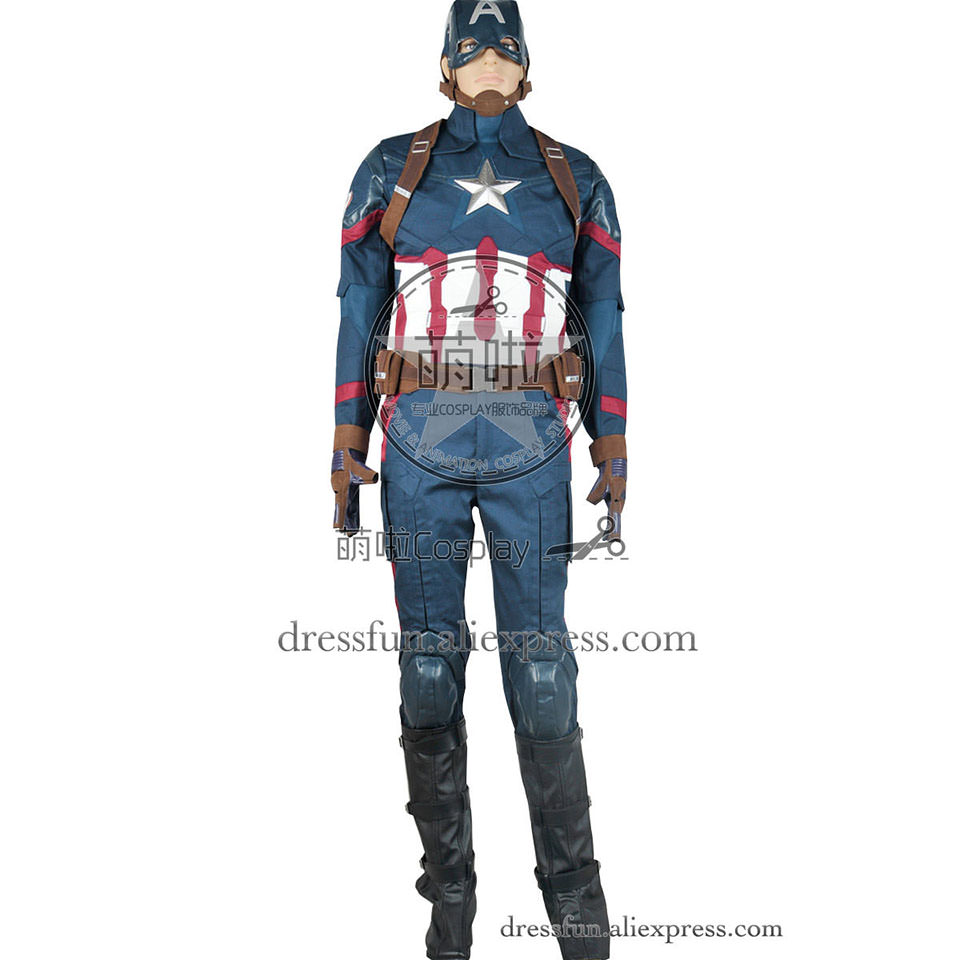 Captain America Civil War Cosplay Steve Rogers Costume Full Set Uniform Outfits Suit Halloween Fashion Party Fast Shipping