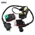 GOOFIT Ignition 5 Pin CDI Box Coil Solenoid AC for 50cc 70cc 90cc 110cc 125cc ATV Dirt Bike and Go Kart TaoTao Relay Group-45