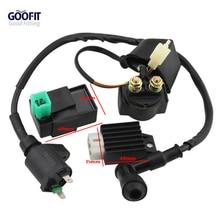 GOOFIT CDI Box Coil Solenoid for 50cc 70cc 90cc 110cc 125cc ATV Dirt Bike and Go Kart Group-45