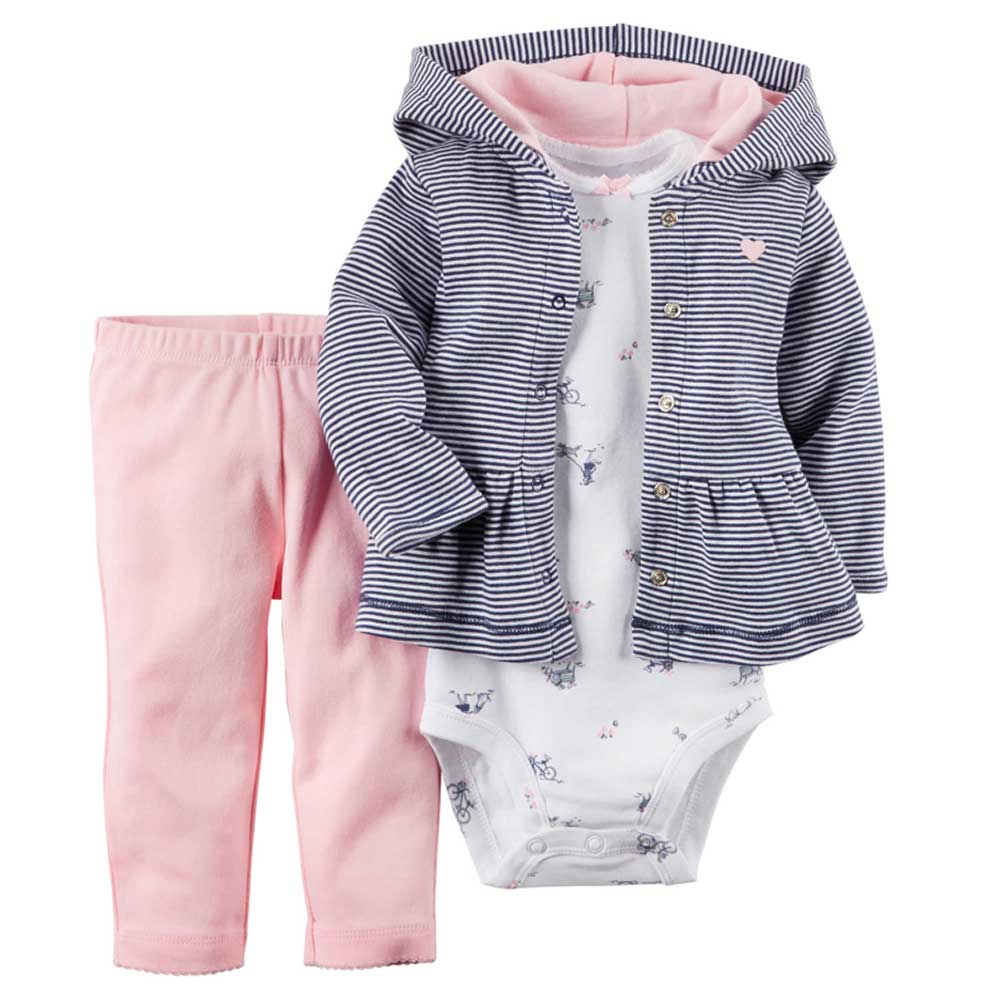3pcs/set Owl Applique Baby Clothing Girl Children Bodysuit Newborn Wear Kit Suit Infant Baby Girl Clothes Kid Costume Outfit
