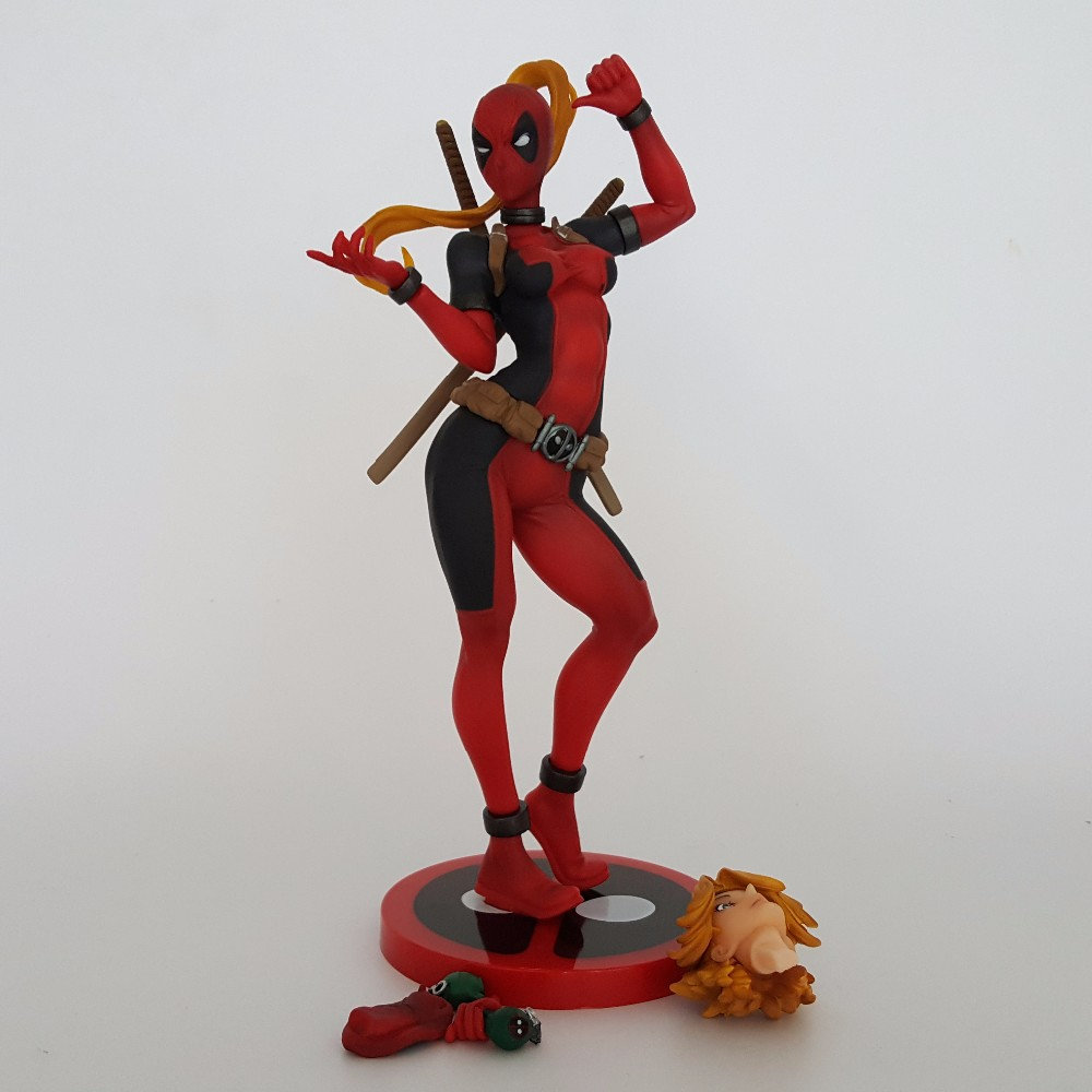 Deadpool Action Figures Lady Merc With A Mouth Anime New Mutants PVC Figure WomenDeadpool Model Toy Best Gift