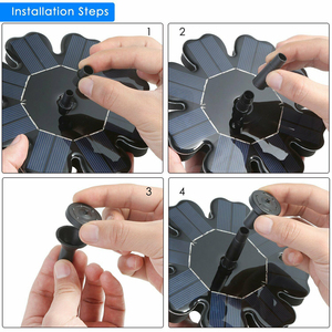 Image 5 - 2.5W Solar Fountain Watering kit Power Solar Pump Pool Pond Submersible Waterfall Floating Solar Panel Water Fountain For Garden