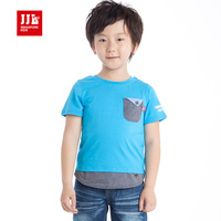 JJLKIDS Brand Summer Style Baby T Shirt Fashion Patchwork Short Sleeve Tee 100 Cotton Comfortable Kids