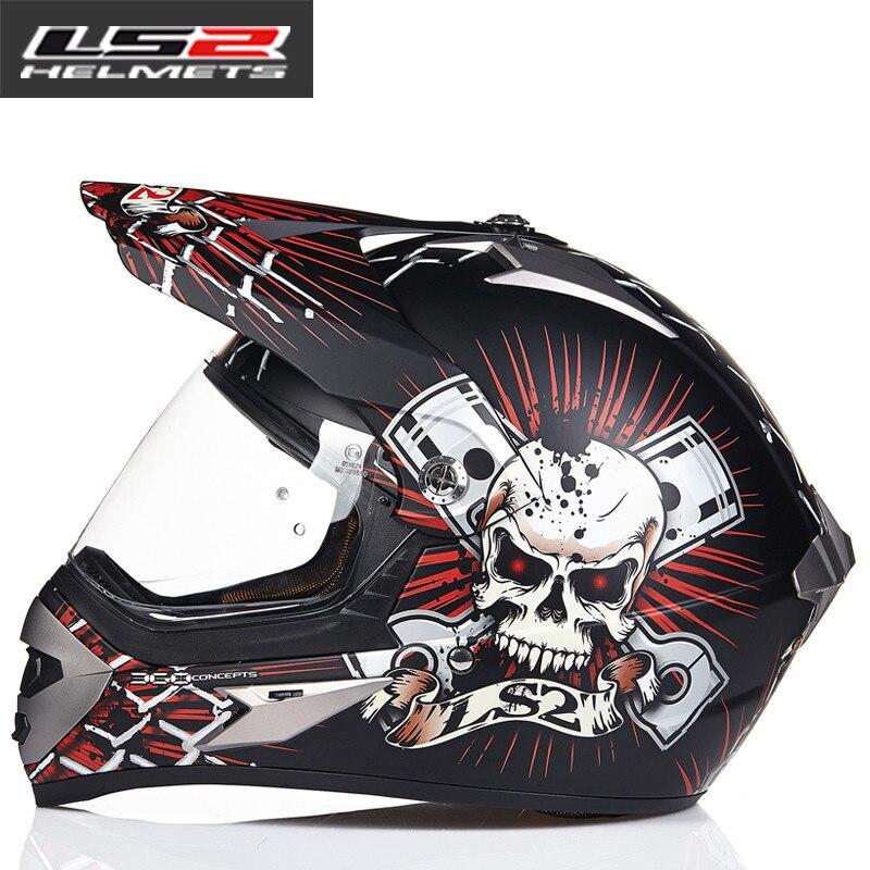 LS2 MX433 внедорожный мотоциклетный шлем с ветрозащитным щитом мотокросса шлемы костюм для мужчин и женщин одобренный ECE - Цвет: 3