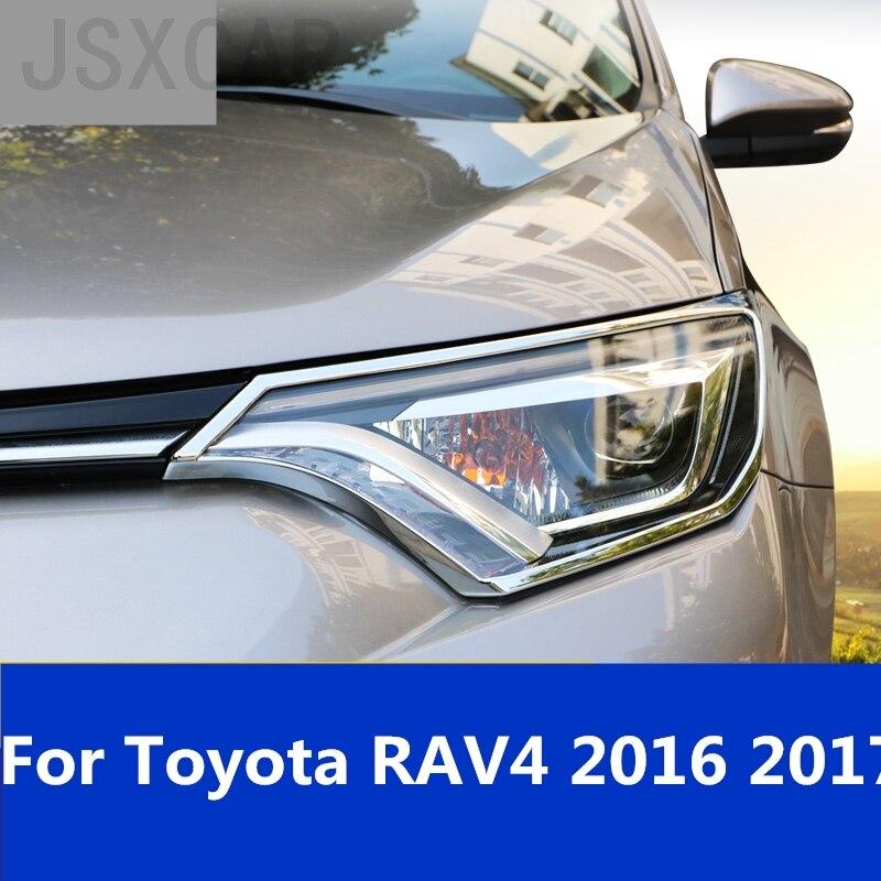 Headlights Eyebrows Eyelids Accessories Front Headlamp Car Styling Exterior Decoration For Toyota Rav4 Rav 4 2016 2017