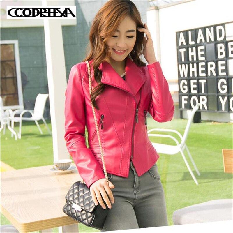 Autumn Winter Fashion Plus Size 4XL Coats Women Zipper   Leather   Jacket Short Slim Motorcycle Coat Ladies Outwear Casual Jackets