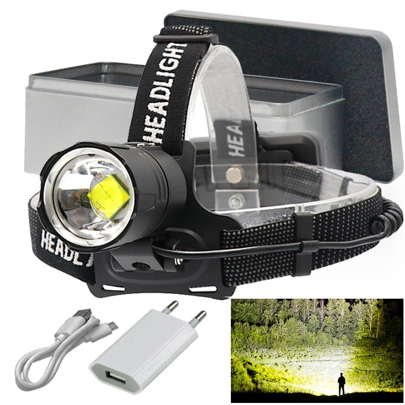 90000LM Led Headlight Headlamp Head Torch 18650 Fishing Work Light Camping Lamp