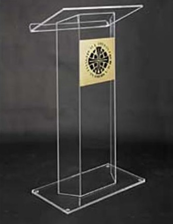 Acrylic Pulpit Plexiglass Modern Lectern Acrylic Church Pulpit Speech Lectern Reception Desk Free Shiping Plexiglass