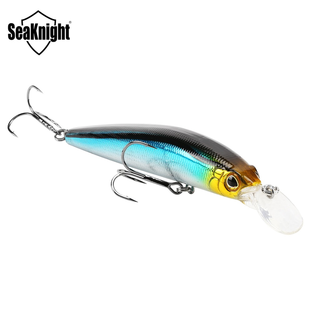 SeaKnight SK023 Minnow 22.5g 125mm 0-1.5M Floating 1PC Hard Bait Fishing Lure 3D Eyes Mionnow Lure Saltwater Freshwater Fishing