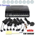best quality Car Parking sensor 8 sensors Buzzer Backup Radar Detector System Reverse Sound Alert 9 colors available