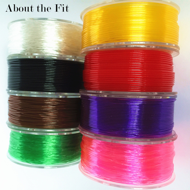 About the Fit 1mm 20M Crystal Elastic Threads Stretch Cords DIY Jewelry Accessories Beading String HandCrafts Findings Lacing 5