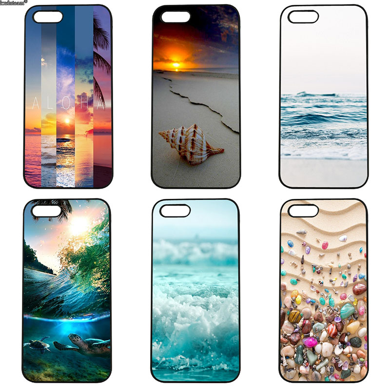 Colorful Seashell Tropical Island Phone Cases Hard PC Cover for iphone 8 7 6 6S Plus X 5S 5C 5 SE 4 4S iPod Touch 4 5 6 Shell