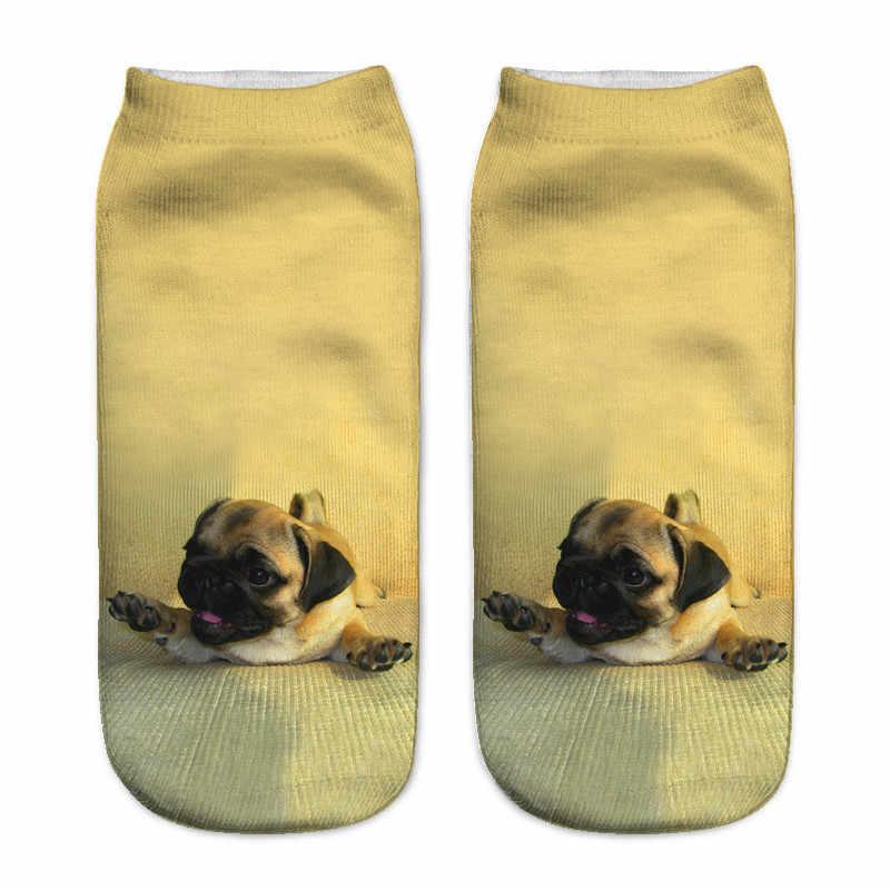 SLMVIAN Novo 3D Impresso Cão Chihuahua Filhote De Cachorro Mulheres Meias Bonito Meias Baixo Tornozelo Corte Meias Várias Cores Estilo Fashion CN005