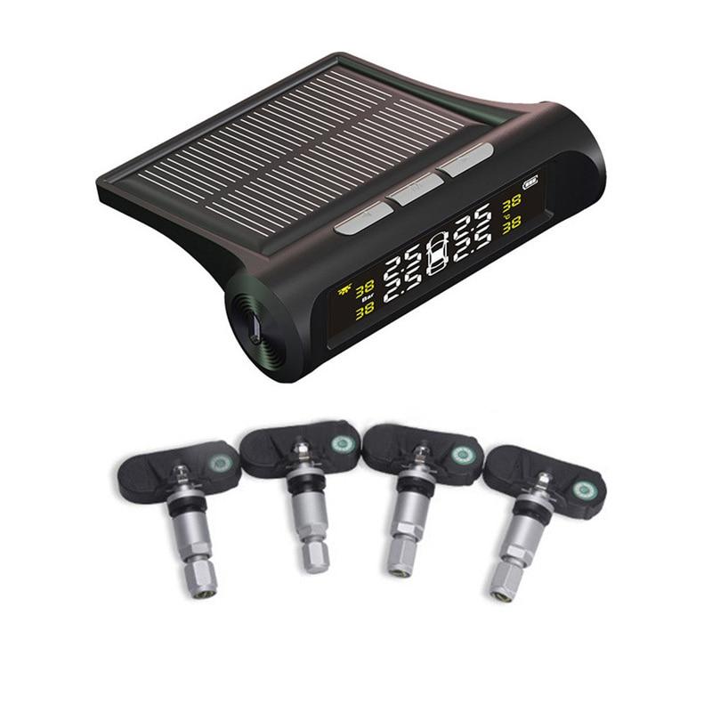 Solar Wireless font b TPMS b font Car Tire Pressure Monitoring Digital LCD Display Auto Security