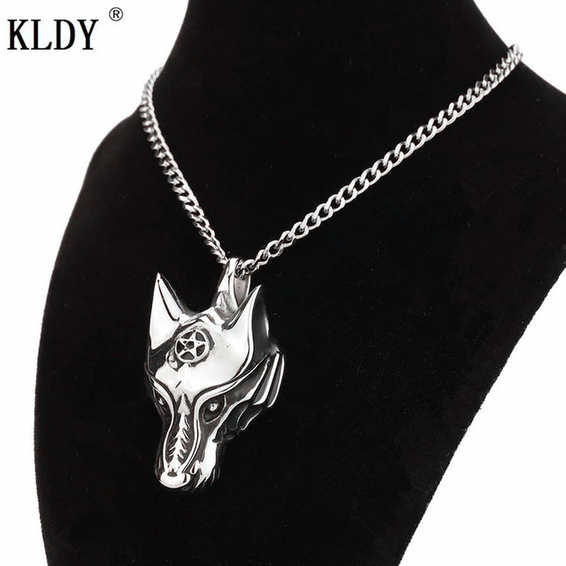 KLDY Teen Wolf Celtics Wolf pendant necklace stainless steel Couples pendant for women totemic animal Jewellry for Best Friends