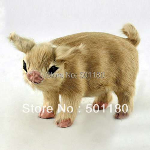 free shipping lucky charm small artificial pig decoration mini toy