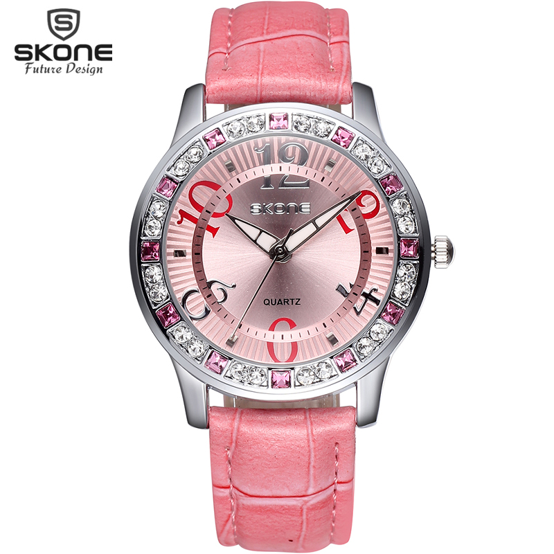 Skone brand watch women luxury fashion casual quartz watches leather sport lady relojes mujer for Watches brands for girl