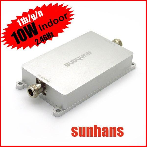 Оригинал SH24Gi10W SUNHANS WiFi Усилитель Сигнала 10 Вт 40dBm Крытый 2.4 ГГц 11/b/g/n Wi-Fi Ampifier Высокой Мощности Wi-Fi усилитель сигнала