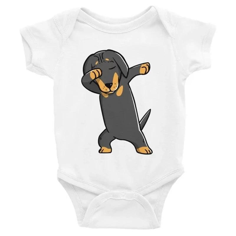 Dabbing Corgi Baby Bodysuit Funny Dog Lover Baby Clothes Baby Boy Baby Girl Bodysuit Baby Shower Gift