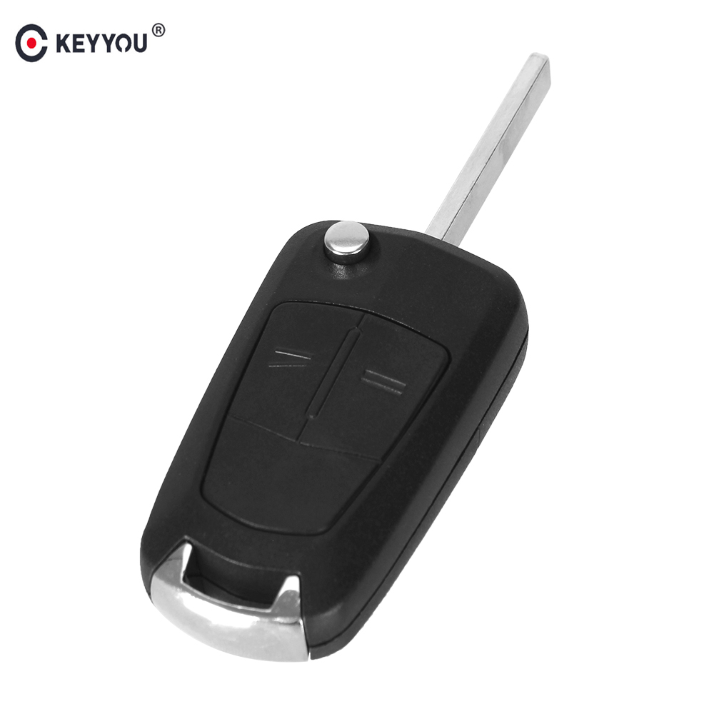 KEYYOU 10X 2 Buttons Flip Remote Folding Car Key Cover Fob Case Shell Styling Case For Vauxhall Opel Corsa Astra Vectra Signum keyyou 3 button car key remote case shell fob for opel vectra astra with key blade