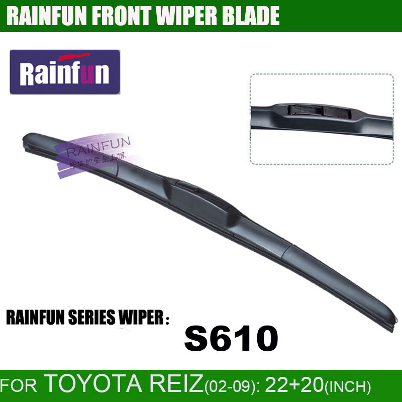 RAINFUN специальный автомобиль стеклоочистителя для Тойота старый рейз(02-09), 22+ 20 дюймов автомобиль стеклоочистителя с высоким качеством натурального каучука, 2 шт в партии