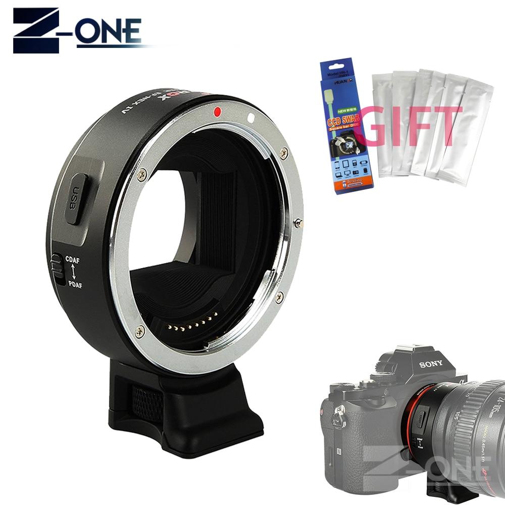 Viltrox EF-NEX IV Adaptateur Auto Focus Lens pour Canon EOS EF EF-S Objectif à Sony NEX E Plein Cadre A9 A7 A7II A7RII A7SII A6500 A6300