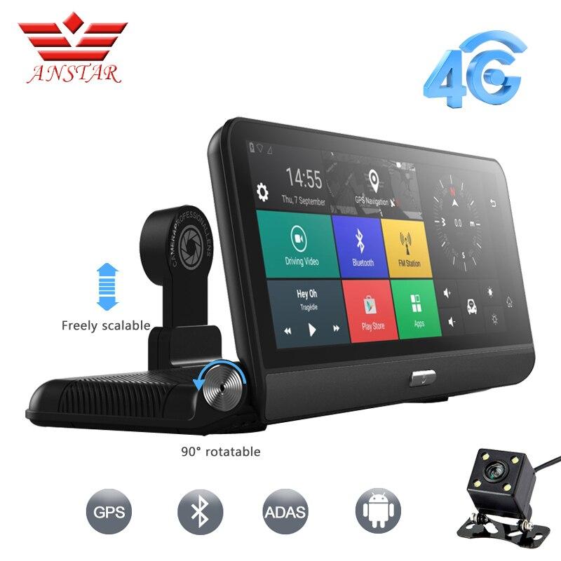 ANSTAR Pro 3G/4G voiture DVR caméra GPS 8 Android 5.1 FHD 1080 P WIFI enregistreur vidéo Dash cam registraire Parking surveillance double objectif