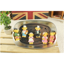 2pcs Fan collection famous bear Kitchen Figure magnet animal toys car home office fridge decor kid friends birthday wedding gift