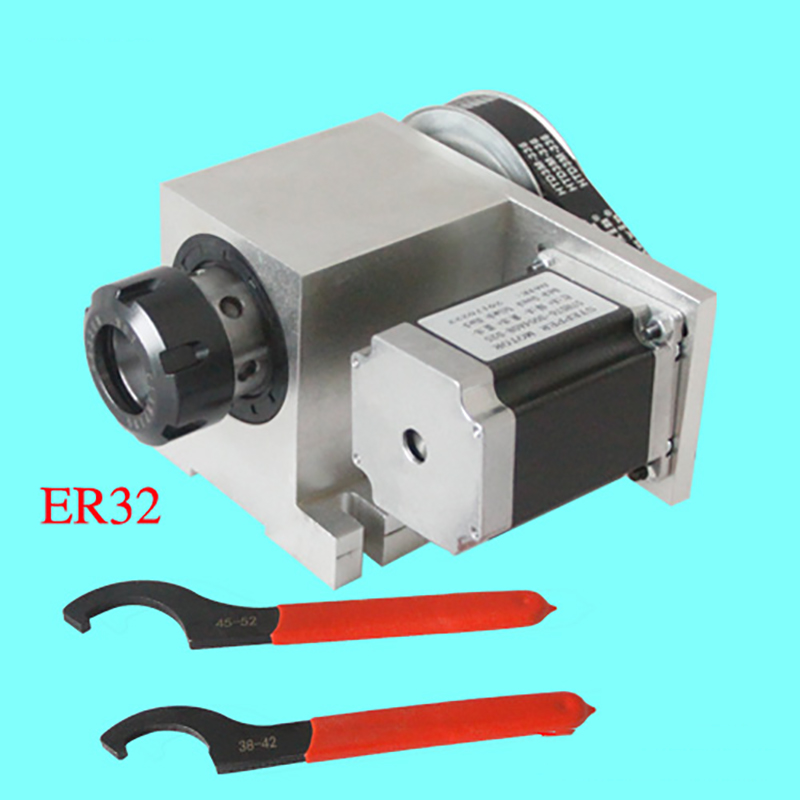 CNC Rotational Hollow Shaft 4th Rotary Axis 4th Axis Router Rotational Er32 3 20mm Chuck a Axis for Engraving Machine