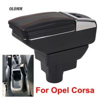 For Opel Corsa Armrest Box Opel Corsa D USB Charging heighten Double layer central Store content cup holder ashtray accessories