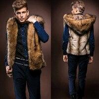 Men Vest Faux Fur Vest Jacket Sleeveless Winter Body Warm Coat Men S Waistcoats Chalecos Hombre