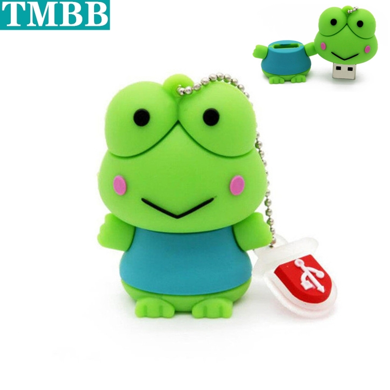 BiNFUL Cartoon Frog Usb Flash Drive Cheap Pen Drive 4gb 8gb 16gb USB Stick Memory 32gb 64gb Pendrive U Disk Creative Gift Gift