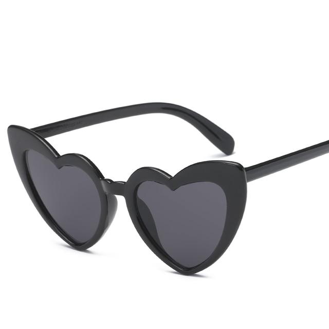 a42d6eddcbb Heart Sunglasses Women brand designer Cat s Eye Sun Glasses Retro Love  Heart Shaped Glasses Ladies Shopping