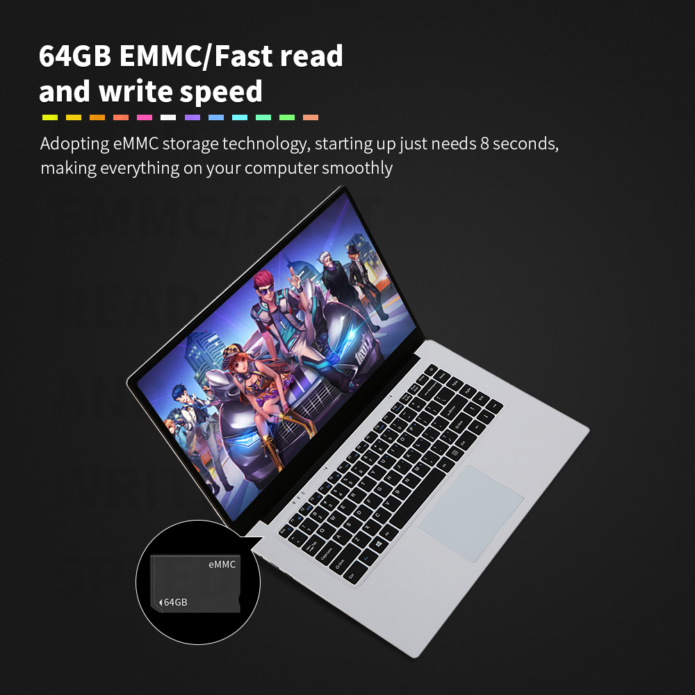 "T-bao TBOOK X8 New 15.6"" 1080P ISP Screen Laptop Mini Portable Lightweight Business Notebook 4G 64GB 1.92GHz Laptops PC Computer 1"