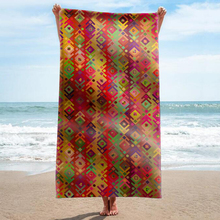 GNORRIS Sand Free Microfiber Plaid rectangle Beach Towel Blanket - Quick Dry Super Water Absorbent Yoga mat